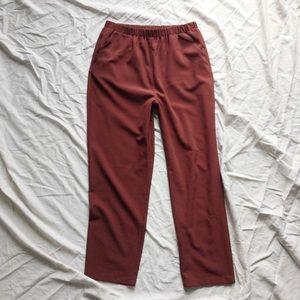 F21 Burnt Orange / Brick Red Soft Trousers